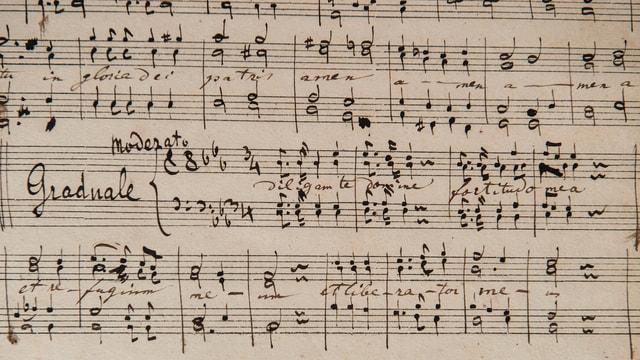 Handgeschriebene Noten
