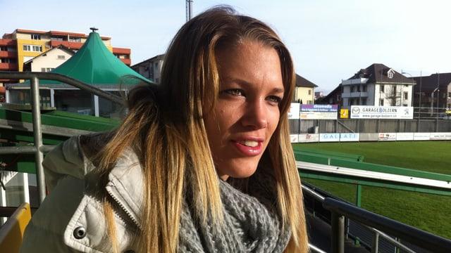 Die erfolgreichste Schweizer Fussballerin Lara Dickenmann.