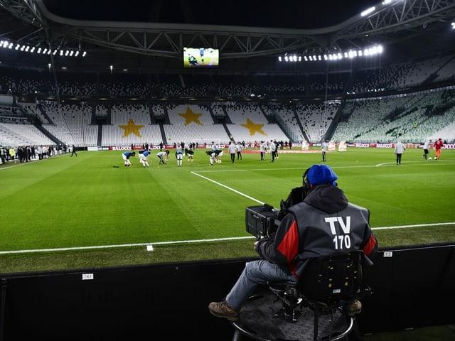 Blick ins leere Juve-Stadion.