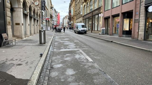 Die leere Basler Innenstadt.