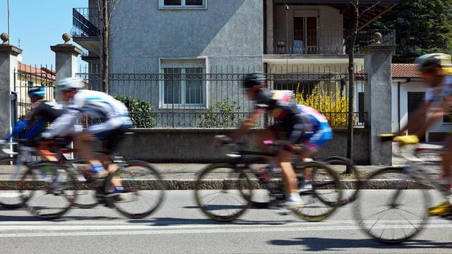 Radfahrer bei einem Velorennen