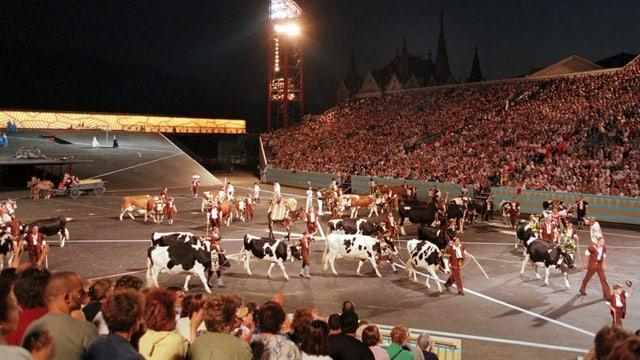 In der Arena der Fête des Vignerons 1999.