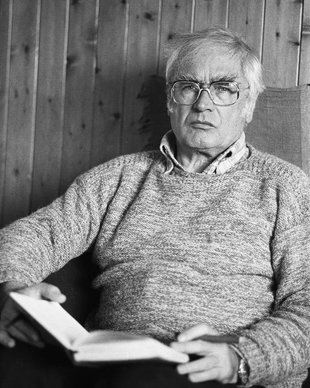 Martin Walser, 1987 im Graubünden.