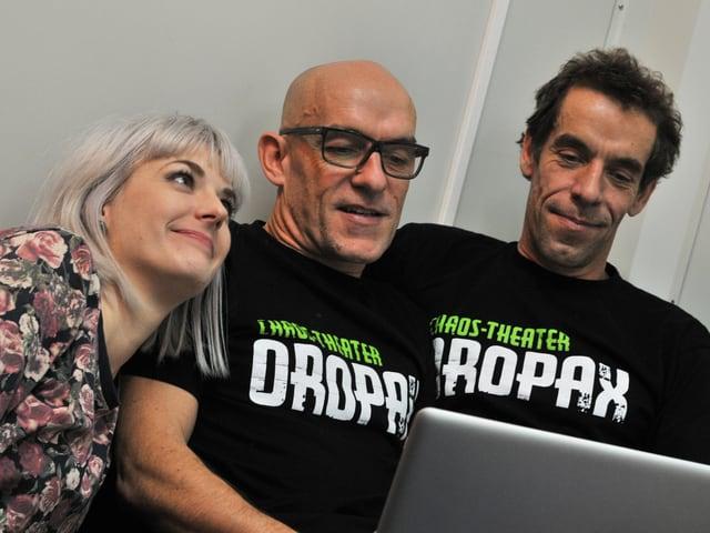 Moderatorin Tina mit Oropax