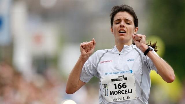 Patricia Morceli während dem Zürich Marathon