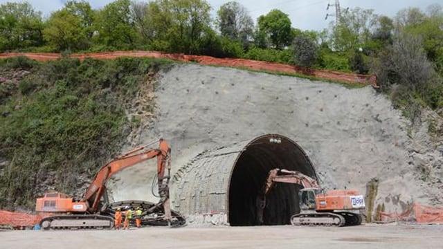 Bauarbeiten beim Tunnel «terzo valico».