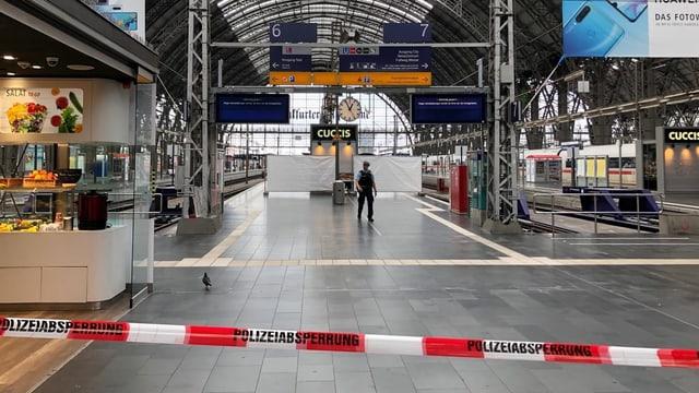 Absperrung am Frankfurter Bahnhof