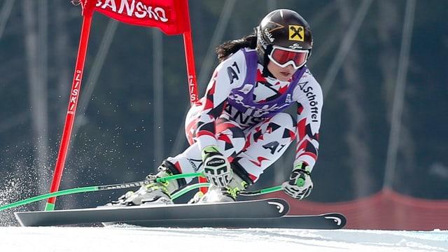 Anna Fenninger durant la cursa da super-G.