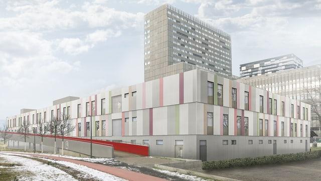 Visualisierung des neuen Bundesasylzentrums in Zürich-West.