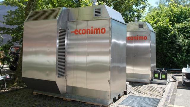 Minikraftwerk, das CO2-neutralen Strom produziert.