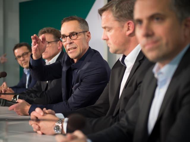 Neuer Verwaltungsrat des FC St.Gallen an Medienkonferenz
