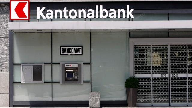 Eingang der Nidwaldner Kantonalbank in Stans.
