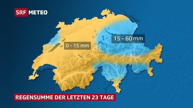Wetterkarte der Schweiz