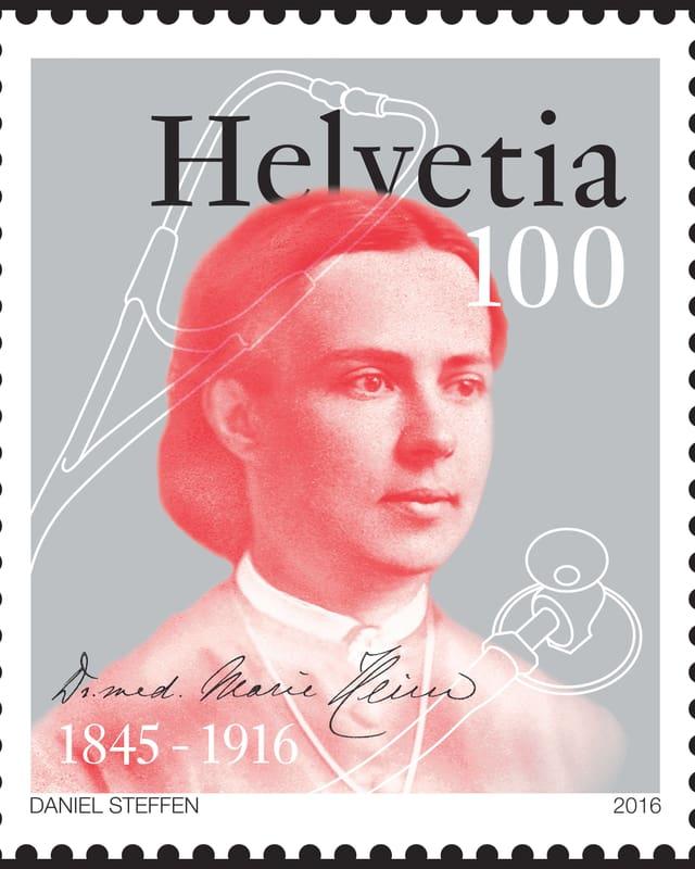 Briefmarke Marie Heim-Vögtlin.