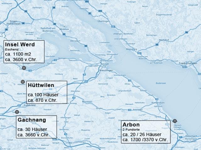 Karte mit den Standorten im TG
