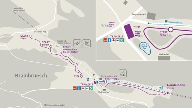 Plan da situaziun a Brambrüesch.