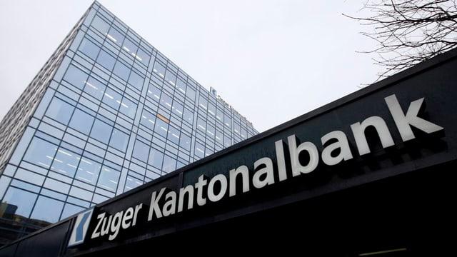 Logo und Gebäude der Zuger Kantonalbank