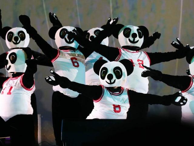 Die Maskottchen der Sommer-Universiade.