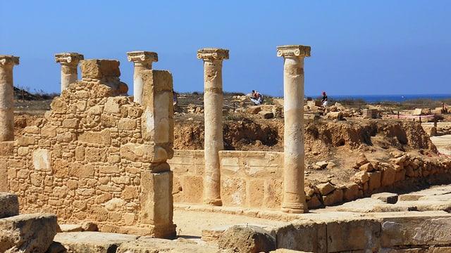Säulen im Archäologischen Park Pafos