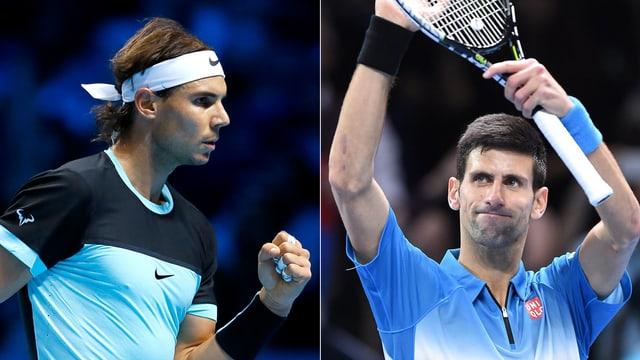 Rafael Nadal gegen Novak Djokovic