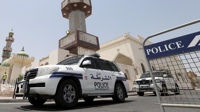 In auto da polizia en il Bahrain.