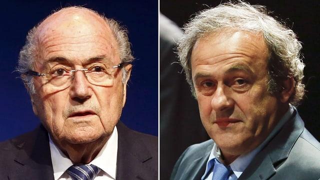 Joseph Blatter (links) und Michel Platini