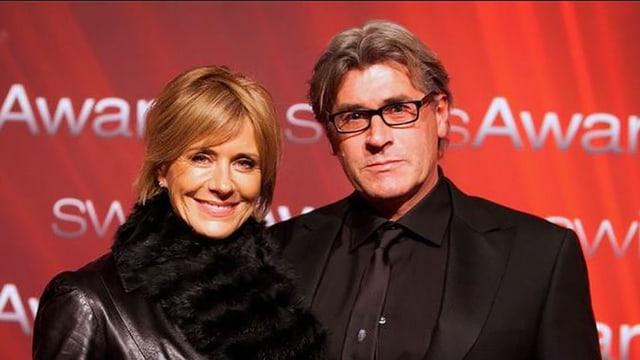 Sabina Schneebeli und ihr Mann am Swiss Award