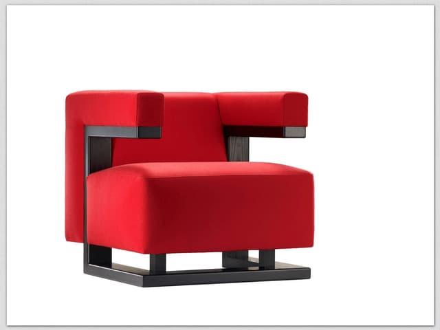 Abbildung eines roten Sessels.