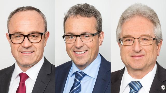 Portraits der drei Kandidaten