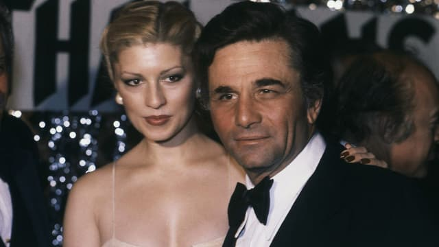 Peter Falk mit seiner zweiten Ehefrau Shera Danese.