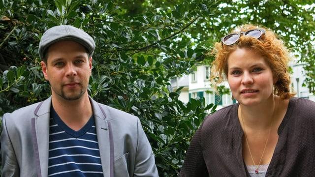 Olivier van der Hoeven und Reta Guetg.