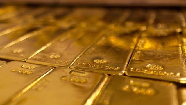 Barras d'aur en in deposit.
