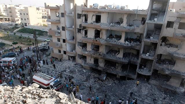 Damaskus nach einem Bombenanschlag
