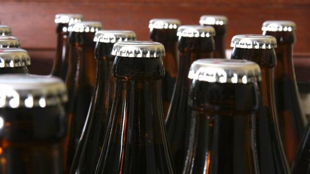 Kronkorken bei Bierflaschen.