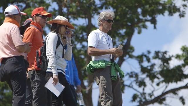 Pistenbauer Bernhard Russi in Jeongseon, Südkorea. Begehung der Olympia-Abfahrtsstecke 2018.