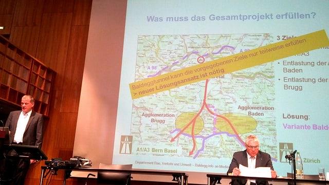 Medienorientierung des Kantons.
