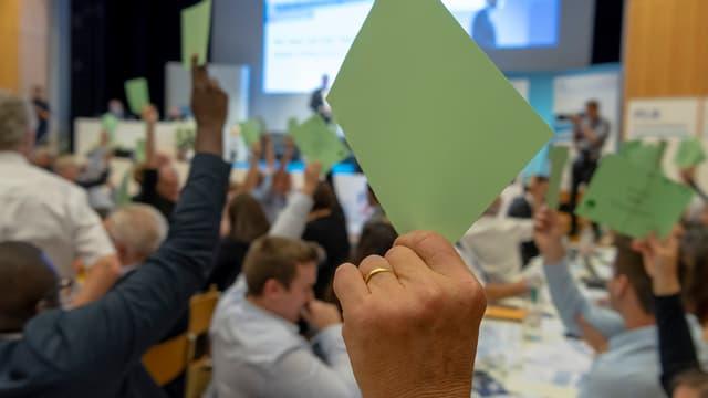 FDP-Delegierte stimmen ab