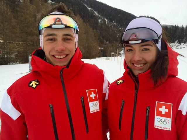 Nico Salutt (biatlon) e Giuliana Werro (passlung) van als gieus olimpics per giuvenils a Lillehammer en Norvegia.
