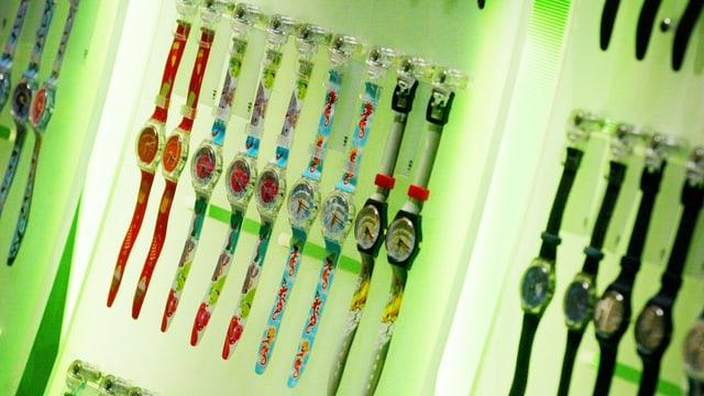Uhren von Swatch.
