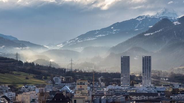 Ansicht der Stadt Chur.