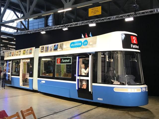 Modell des neuen Trams «Flexity» von Bombardier.