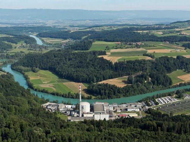 Das AKW Mühleberg von oben - 2019 wird es abgeschaltet