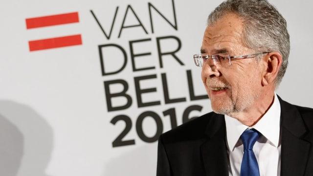 Aufnahme des österreichischen Präsidentschaftskandidaten Alexander Van der Bellen.
