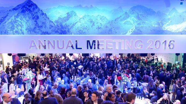 Bild von der Konferenzhalle in Davos