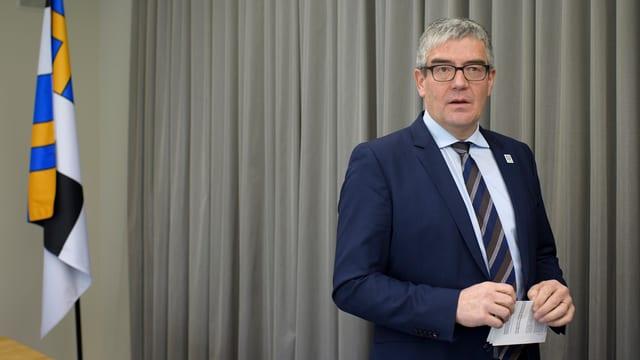 Regierungsrat Jon Domenic Parolini machte das Bündner Bewerbungsdossier vor 10 Tagen öffentlich.