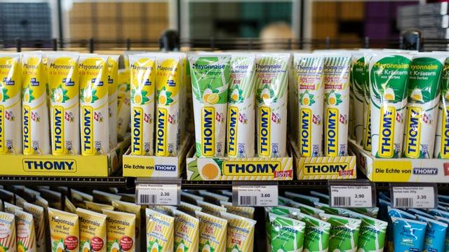 Zu sehen sind Produkte von Thomy.