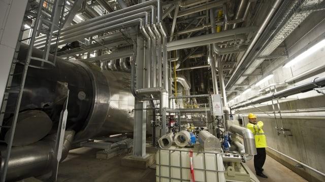 Die neue Energiezentrale Forsthaus von Energie Wasser Bern