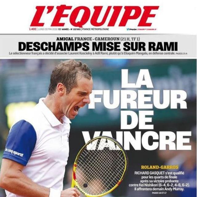 Das Titelbild der L'Équipe