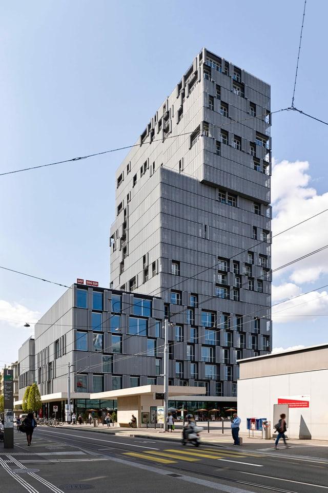 Ein modernes Hochhaus.