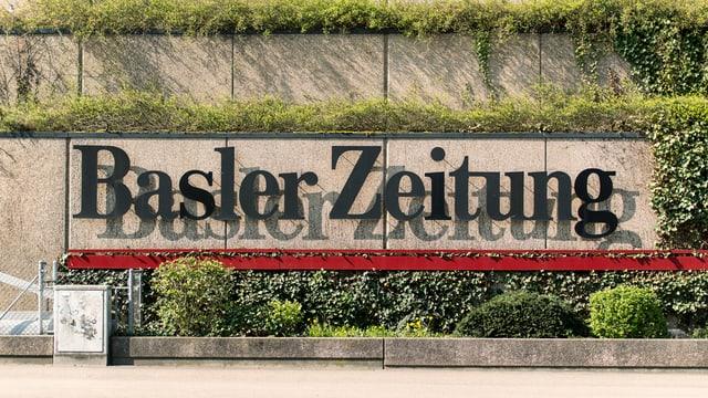 Schriftzug Basler Zeitung
